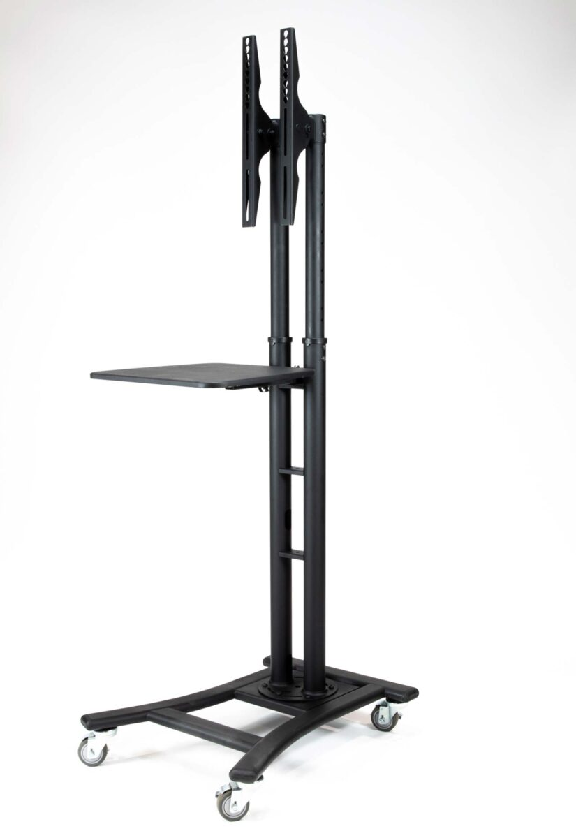 Black Rolling Stand with Shelf