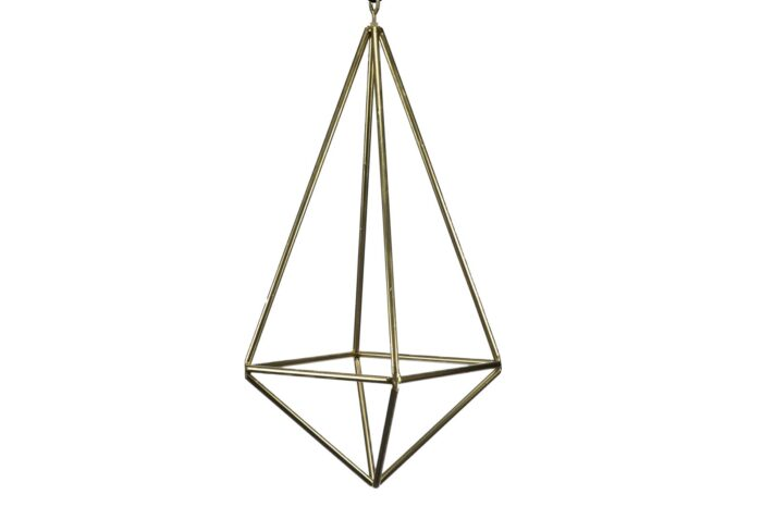 Large Gold Geometric Chandelier