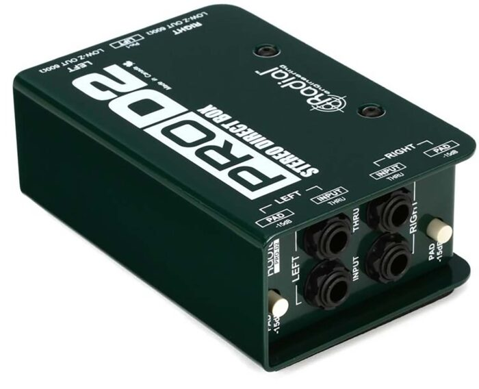 Radial ProD2 Stereo Passive Instrument Direct Box