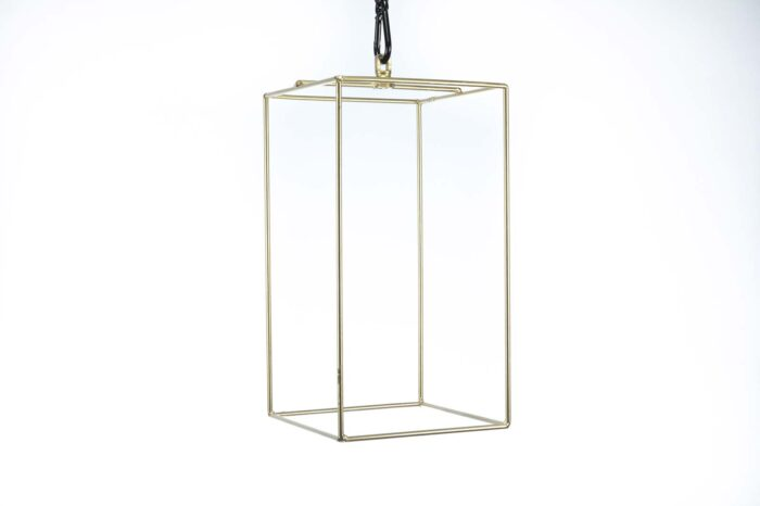 Small-Gold Geometric Chandelier